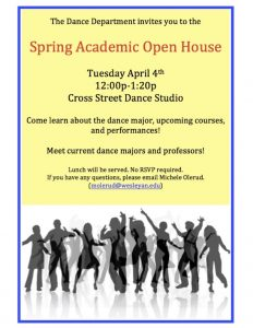 Dance Major Open House