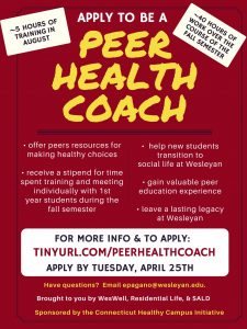Peer Health Coach recruitment